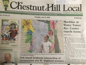Drew Montemayor - Chestnut Hill Mural